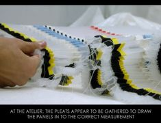 Ribboned Pleats at Dior Haute Couture | The Cutting Class. Christian Dior, Haute Couture, SS15, Paris, Video Still 11. Pleating is gathered to fit garment measurements.