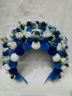 Headdress, Headpiece, Floral Crown Wedding, Felt Decorations, Craft Night, Headgear, Flower Crown, Ukraine, Hair Bows