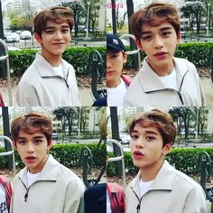 """""""When your hair is messy and you still feel handsome #NCT #LUCAS"""