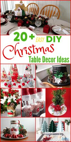 20+ Easy DIY Christmas Table Decor Ideas for a Beautiful Table Setting - Mom Does Reviews