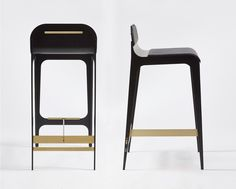 Bardot Barstool with Leather Seat and Satin Brass Hardware by Gabriel Scott Eames Chairs, Bar Chairs, Lounge Chairs, Dinner Chairs, Ikea Chairs, Room Chairs, Bardot, Kids Recliner Chair, Chair Cushions