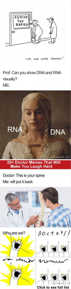 Doctor Memes That Will Make You Laugh Hard Funny Doctor Memes, Doctor Humor, Twisted Humor, Best Memes, Funny Humor, Laugh Out Loud, Nerd Stuff, Funny Stuff, I Laughed