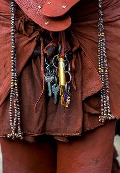 Africa | Himba woman detail.  Epupa, Namibia | ©Eric Lafforgue
