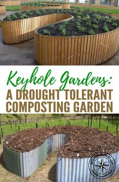 Keyhole Gardens: A Drought Tolerant Composting Garden — The Keyhole Garden concept is brilliantly simple. A circular raised bed has a center compost basket that distributes nutrients to the surrounding lasagna-style garden bed.