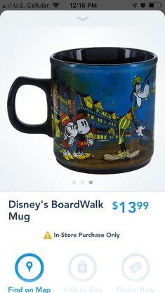 New on the shop Disney app boardwalk resort mug Mickey Shorts, Oil Uses, App, Mugs, Tableware, Disney, Style, Swag, Dinnerware