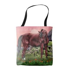 Bay Arabian Horse Tote Bag