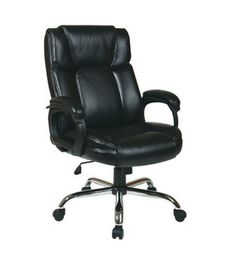 Executive Chair Black Contoured Back Chrome Base Home Office Furniture New