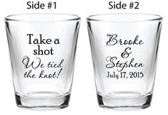 48 Wedding Favors Custom Personalized 1.5oz Glass by Factory21
