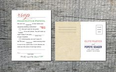 Mad Libs Inspired Vintage Wedding RSVP by differentdesigns10