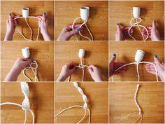 Tuto DIY // comment fabriquer un cache fil en macramé  © Clem Around the Corner