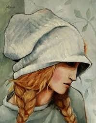 Image result for mixed media art whimsy girls wearing hats images