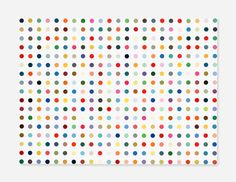 """Argininosuccinic Acid, 1995  """"To create that structure, to do those colours, and do nothing. I suddenly got what I wanted. It was just a way of pinning down the joy of colour.""""[1]  The spot paintings are amongst Hirst's most widely recognised works. Of the thirteen sub-series within the spots category, the 'Pharmaceutical' paintings are the first and most prolific. There are over 1000 in existence, dating from 1986 to 2011."""