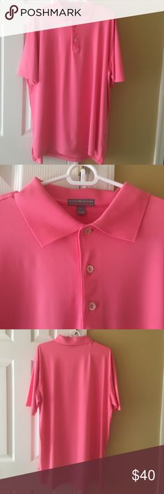 Men's Peter Millar Summer Comfort Polo NWOT Pink Peter Millar Summer Comfort Polo size large. New without tags. Peter Millar Shirts Polos