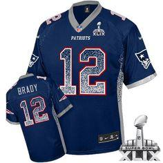 20e1f9d51af New England Patriots Vince Wilfork 2015 Super Bowl XLIX Drift Fashion Blue Elite  Jersey