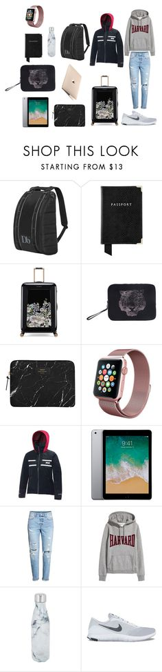 """""""Travel in style"""" by ella-m-forss ❤ liked on Polyvore featuring Aspinal of London, Ted Baker, Marina Galanti, Helly Hansen, H&M, S'well and NIKE"""