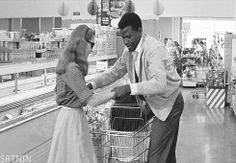 "satnin: "" Elizabeth Hartman and Sidney Poitier in A Patch of Blue, 1965. """