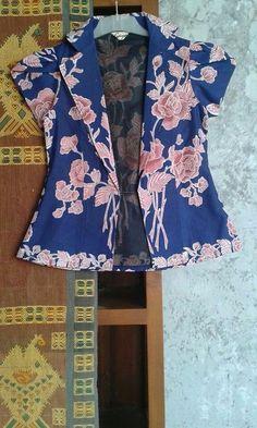 blazer batik with short sleeve