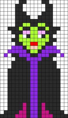 Maleficent - Sleeping Beauty Perler Bead Pattern