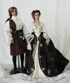 Bugs me that these are dolls but these are the exact outfits Jamie and Clair wore on there wedding day