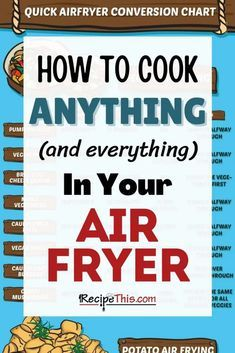 Air Fryer Cooking Times, Cooks Air Fryer, Air Fryer Steak, Air Fryer Oven Recipes, Air Frier Recipes, Air Fryer Dinner Recipes, How To Convert A Recipe, Air Fryer French Fries, Cooking A Roast