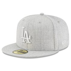 Men s Los Angeles Dodgers New Era Gray Twisted Frame 59FIFTY Fitted Hat c9a174eb73b