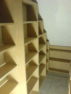 is useful as open shelves but could under Under Stairs Closet Pantry stair storage this is useful as open shelves but could jpg Understairs Storage Closet jpg open pantry shelves Stair stairs storage Under Stairs Cupboard Storage, Shelves Under Stairs, Under Stairs Pantry, Stair Shelves, Staircase Storage, Stair Storage, Pantry Storage, Staircase Design, Closet Storage