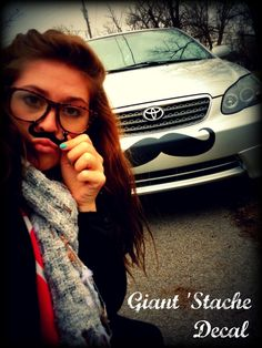 Giant Car Mustache Vinyl Decal  The Handlebar by ImSeriouslyJoking, $14.00