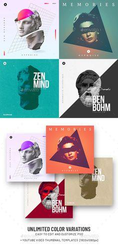Music Album Cover Templates PSD