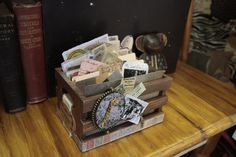 7gypsies Vintage Photo Crates are perfect for organizing and displaying all you collect during your travels.  Add 4x6 photos, tickets, programs, menus, newspaper clippings.  To organize use our 4x6 file folders.  One for each day of the trip or put photos all together.  Some many options.  #7gypsies #photocrate #travelphotos #photoorganization #photo #travelscrapbooking #scrapbooking #Serengeti #africa - vintage stained photo crate - Vintage Photo & ATC Crates   Canvas Corp Brands