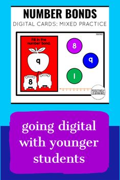 Number Bonds Practice using digital task cards! Add to your math centers or practice at home. 30 questions focusing one MIXED practice: missing parts and whole (total). Lowest prep - just needs an internet connection!