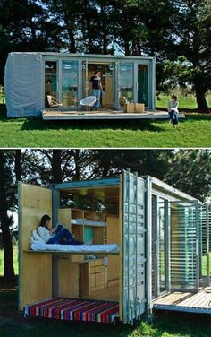 Clever tiny Container Home...