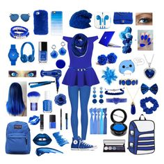 """BLUE "" by macaulere ❤ liked on Polyvore featuring Converse, Casetify, Speck, Spacecraft, 2LUV, Sequin, Vince Camuto, Chanel, NARS Cosmetics and Lime Crime"