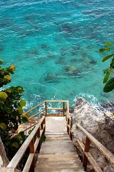 Stairs to The Ocean Curacao, Caribbean