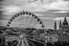 I Captured A Mysterious Umbrella Man Balancing On Budapest's Famous Sights Umbrella Man, Budapest, Bored Panda, Slovenia, Hungary, Croatia, Ferris Wheel, Storytelling, Art Projects