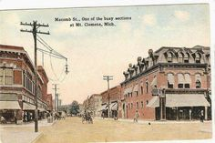 old postcard about Mt. Clemens Michigan