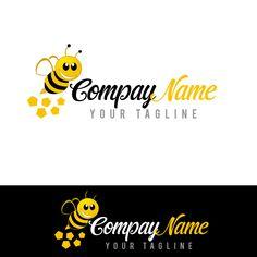Costume bee logo design