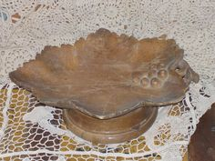 Wood Grape and  Leaf Bowl Music Box by Daysgonebytreasures on Etsy