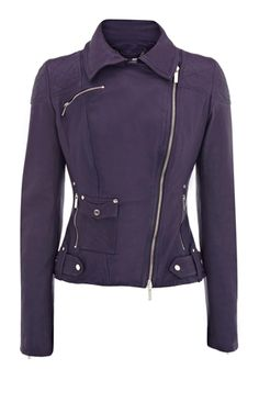 I tried this indigo leather jacket on and it feels like a dream