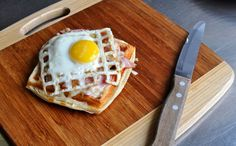 Will It Waffle? Rather than being served on bread, her waffled croque madame is assembled atop waffled croissant dough. The waffle's texture allows the bechamel sauce to pool in the divots. Crostini, Bruschetta, Ham And Cheese Croissant, Croissant Dough, Croissant Sandwich, Croissant Recipe, Yummy Waffles, Waffle Maker Recipes, Great Recipes
