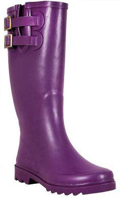 Chooka rain boots in eggplant $60