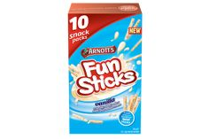 Arnotts Fun Sticks Vanilla. Watch vanilla limits. Delicious Chocolate, Chocolate Flavors, Pink Icing, Vanilla Cream, How To Make Tea, Chocolate Cream, Nutrition Information, Saturated Fat, Serving Size