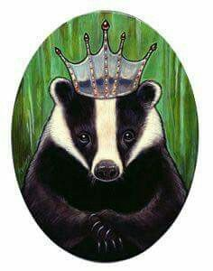 Badger Illustration, Illustration Art, Honey Badger Tattoo, Hogwarts Houses Crests, Spirited Art, Animal Totems, Animal Paintings, Animal Drawings, Painting Inspiration