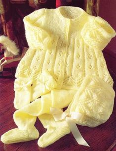 Baby Knitting Pattern 4 Ply Matinee Cardigan Pram Set 16 inch FOR SALE • • See Photos! Money Back Guarantee. Baby Knitting PatternYou are purchasing a Good Quality Laminated CopyThe pattern will give instructions for Matinee Coat/Ca Baby Cardigan Knitting Pattern Free, Baby Sweater Patterns, Knit Baby Sweaters, Knitted Baby Clothes, Baby Patterns, Free Knitting, Vogue Knitting, Baby Pullover Muster, Layette Pattern