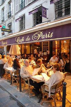 café de paris, where you'll find me! Restaurant Paris, Paris Restaurants, Paris Travel, France Travel, Paris Tour, Sidewalk Cafe, Cafe Bistro, French Cafe, I Love Paris