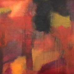 Red 100x140x4 Wonderful large painting in red/orange/yellow and black tones Price: DKK 21.000