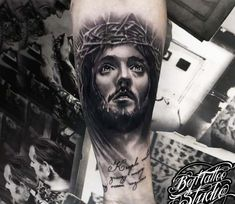 Jesus Christ tattoo by Bejt Tattoo