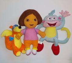 Dora Swiper Boots 3 Plush Toy Stuffed Doll #Unknow