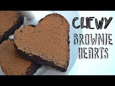 Chewy Chocolate Brownie Hearts Recipe - Fablunch