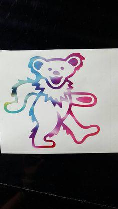 Grateful Dead Tie Dyed Dancing Bear Vinyl by littlehippiechick