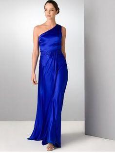 aidan mattox blue silk gown - very similar to the gown I have from Aidan Mattox